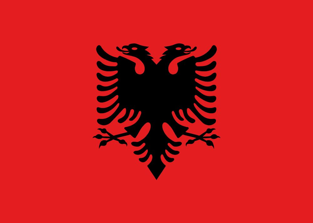 Albania flag coloring - country flags