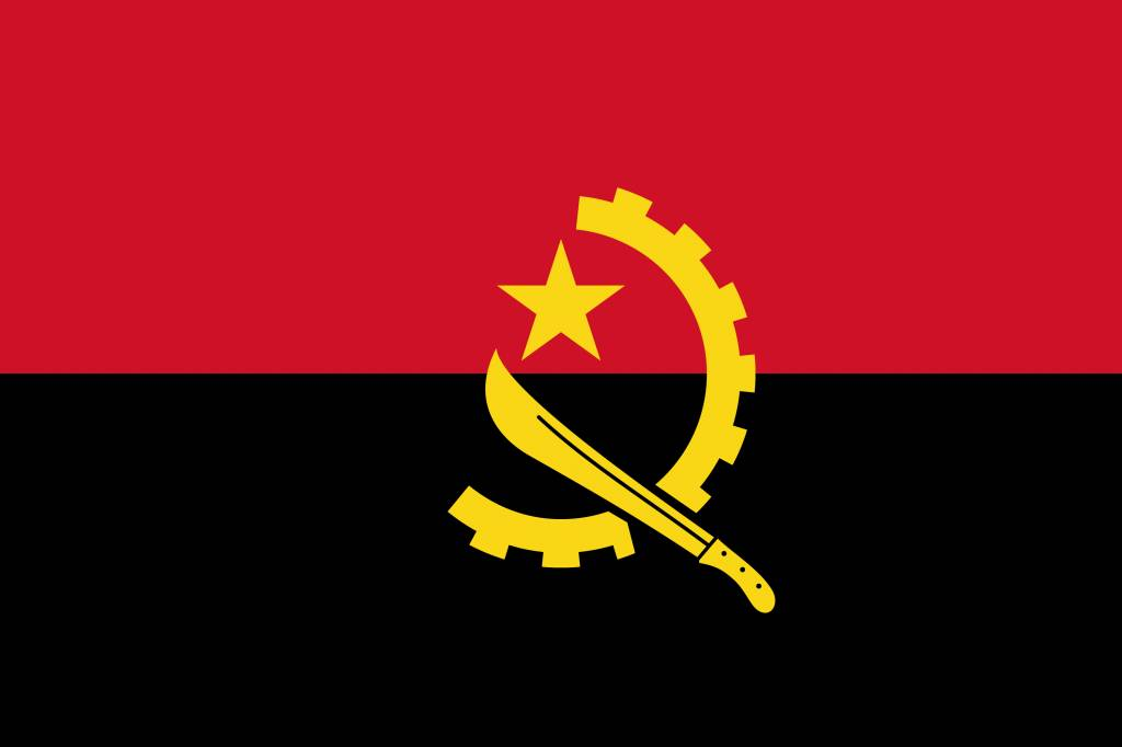 Angola Flag Coloring Country Flags