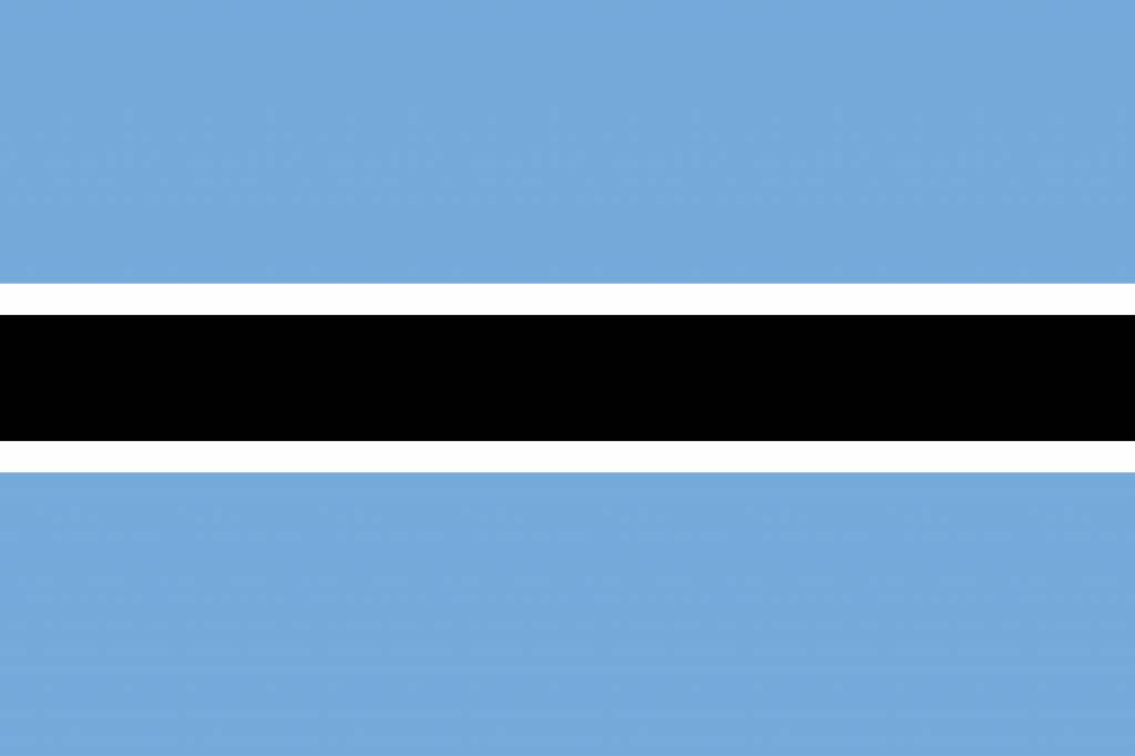 Image result for free flag of botswana