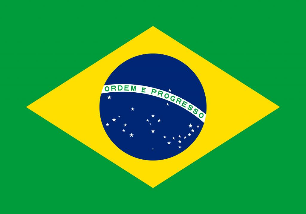 Brazil Flag Coloring Country Flags