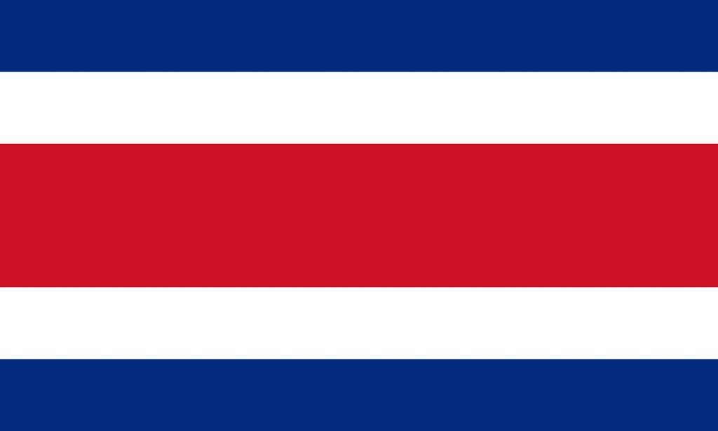 Costa Rica Flag Coloring Country Flags