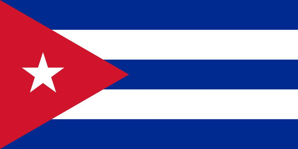 Cuba flag coloring - country flags