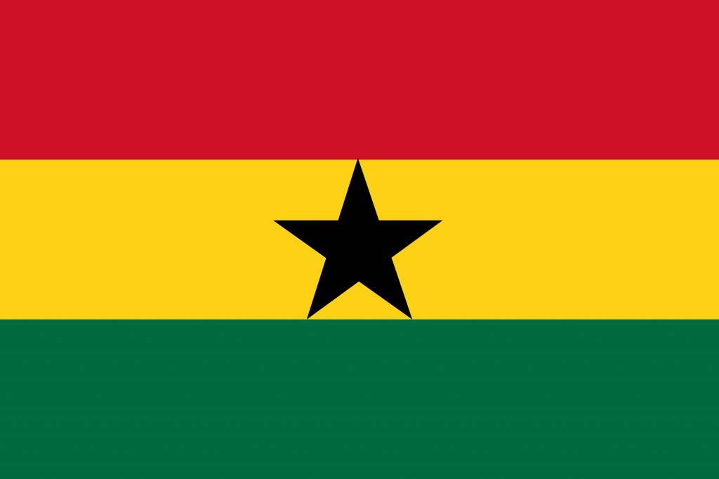 Ghana flag coloring - country flags