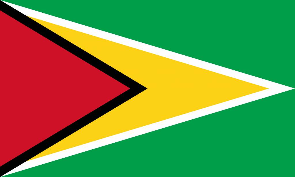 Guyana flag coloring - country flags