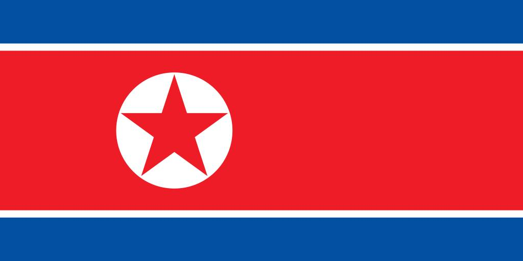 North Korea Flag Coloring Country Flags