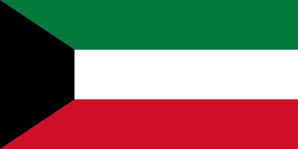 Kuwait Flag Coloring