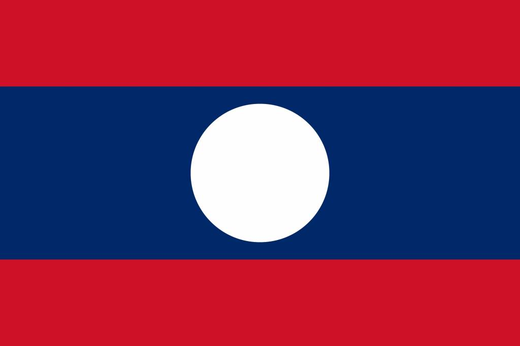 Laos Flag Coloring