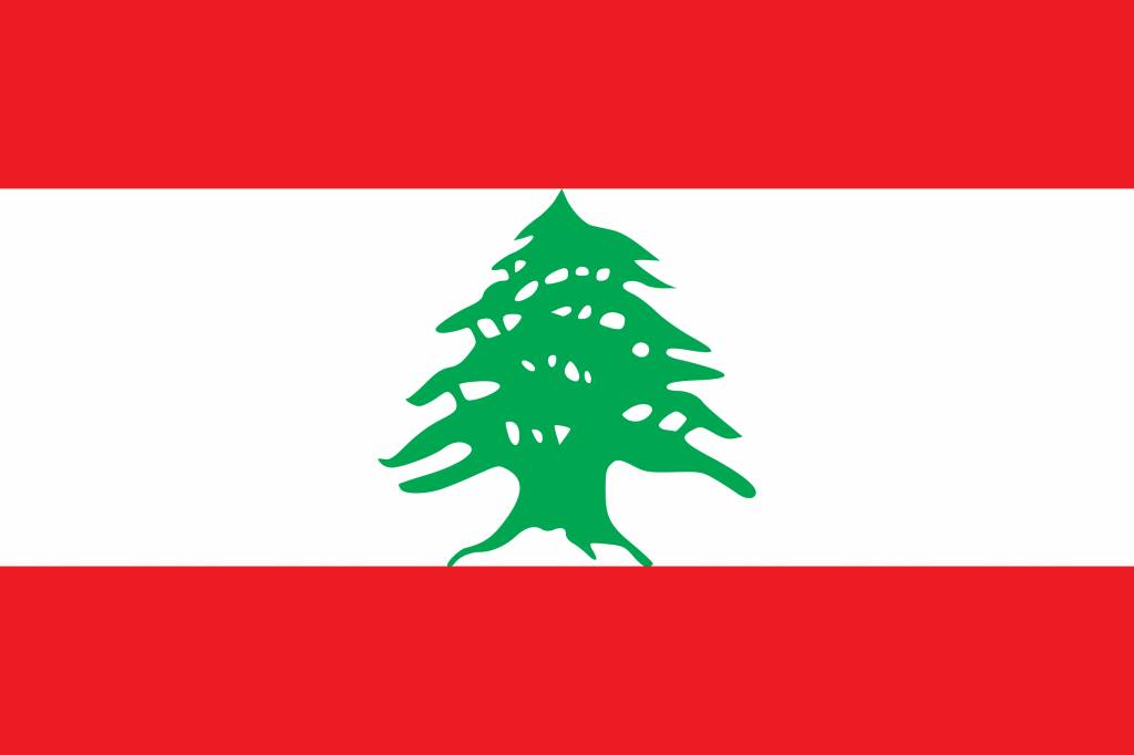 Lebanon flag coloring - country flags