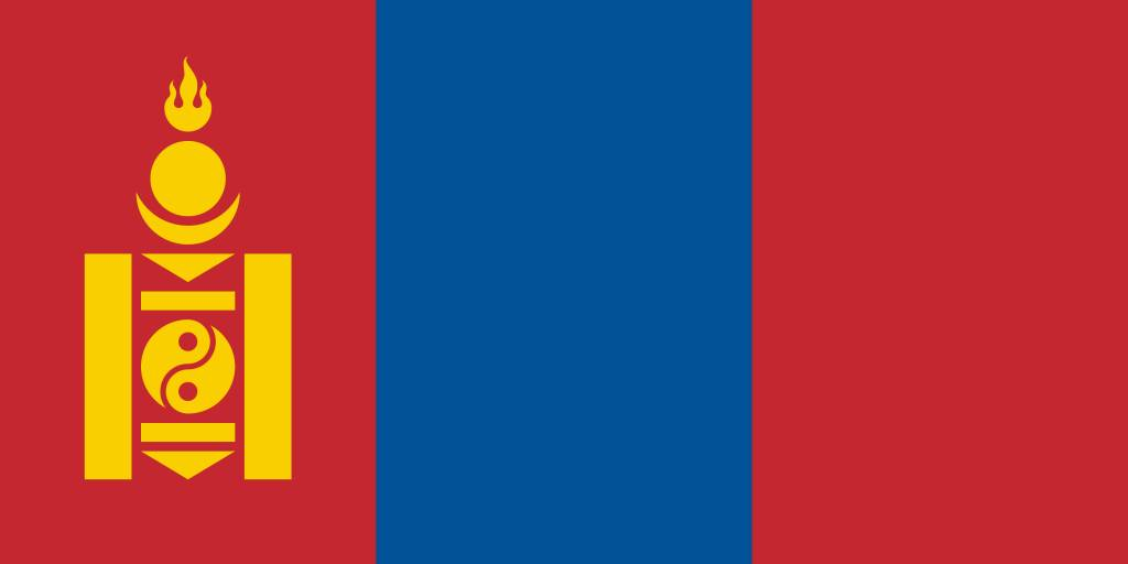 Mongolia Flag Coloring Country Flags