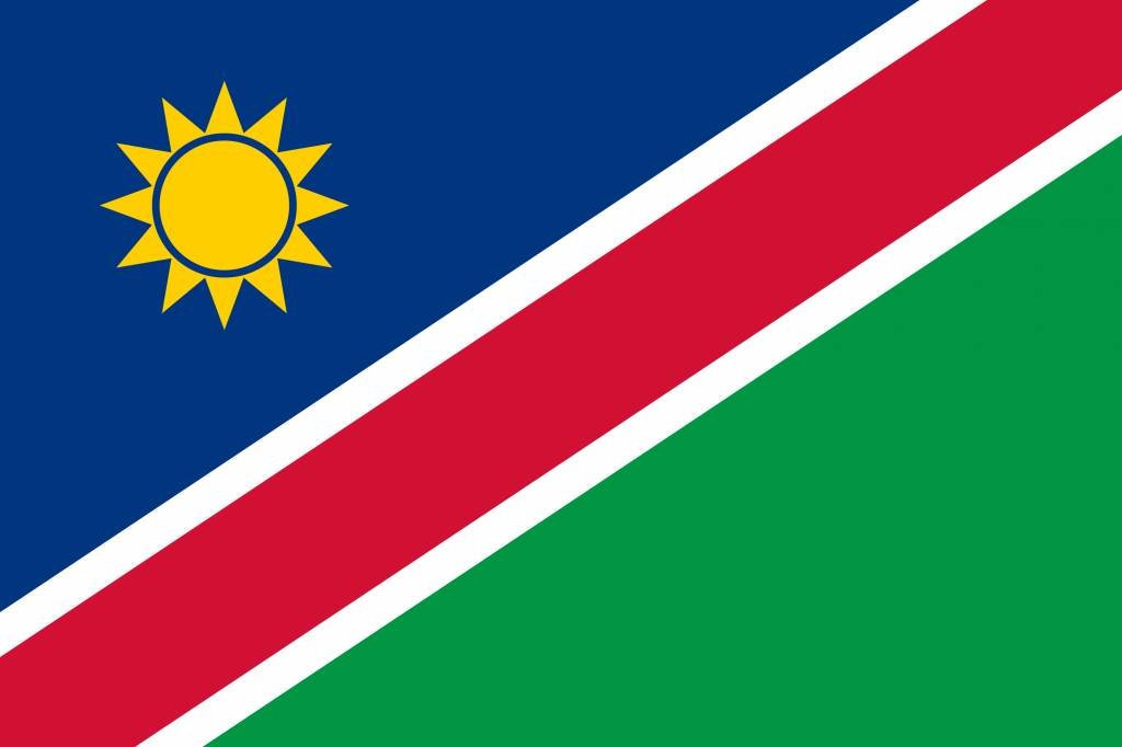 namibia flag coloring country flags
