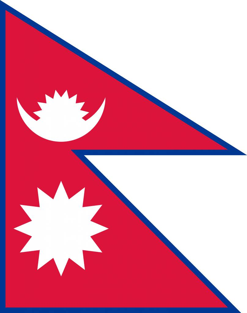 nepal flag coloring country flags