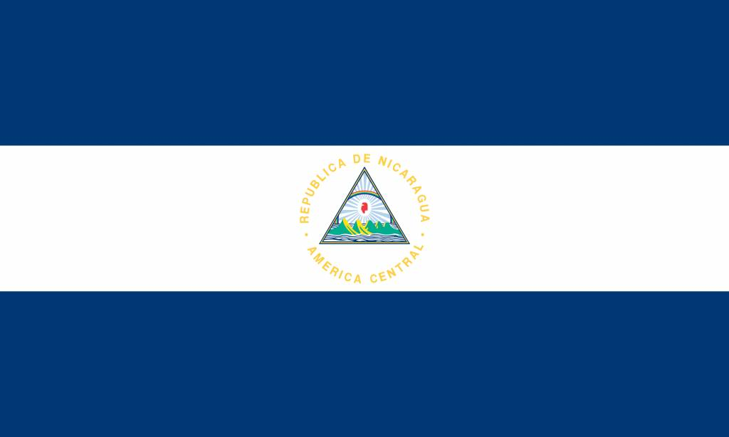 nicaragua flag coloring country flags