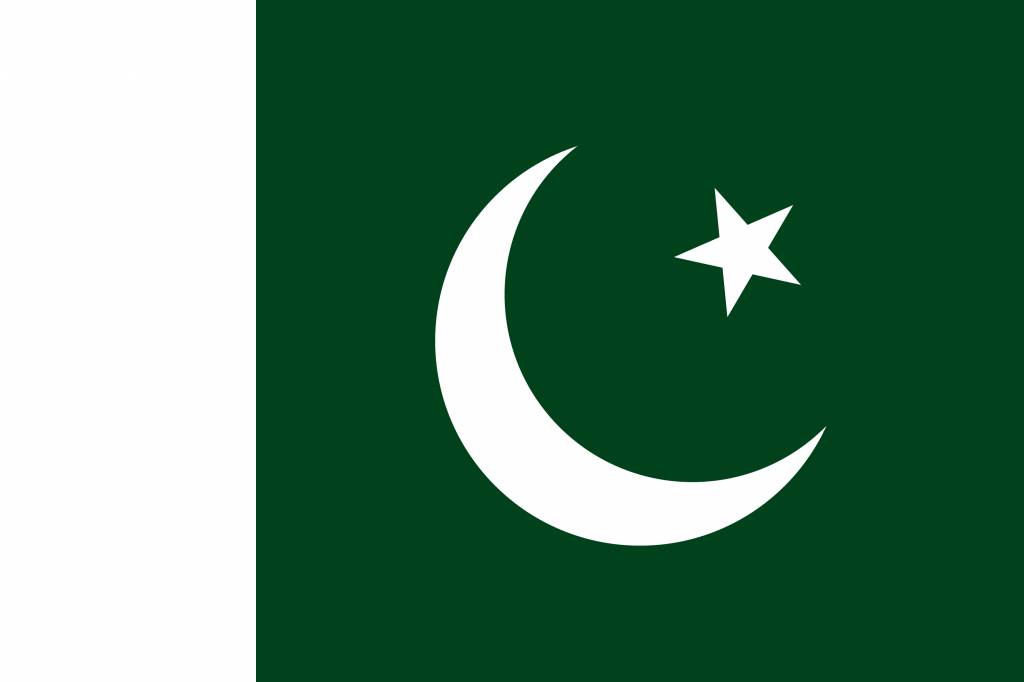Pakistan flag coloring  country flags