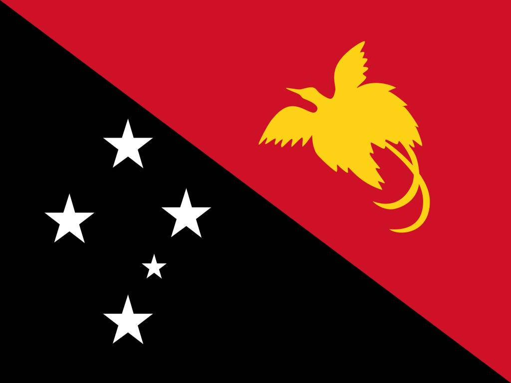 papua new guinea flag coloring country flags