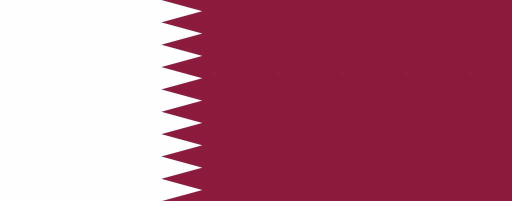 Qatar flag coloring country flags