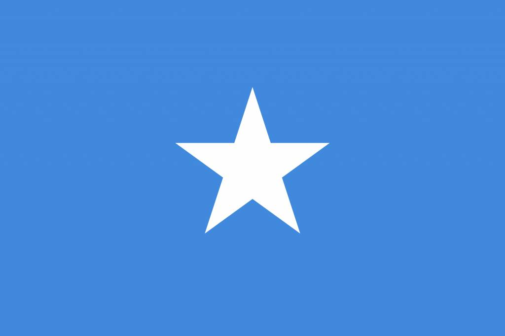 Somalia flag coloring - country flags