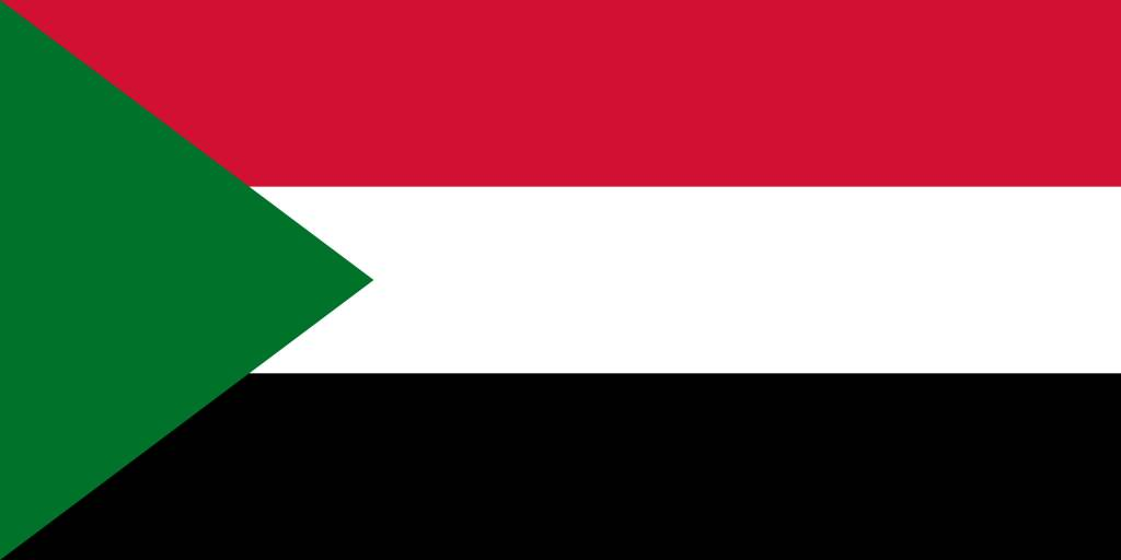 Sudan Flag Coloring Country Flags
