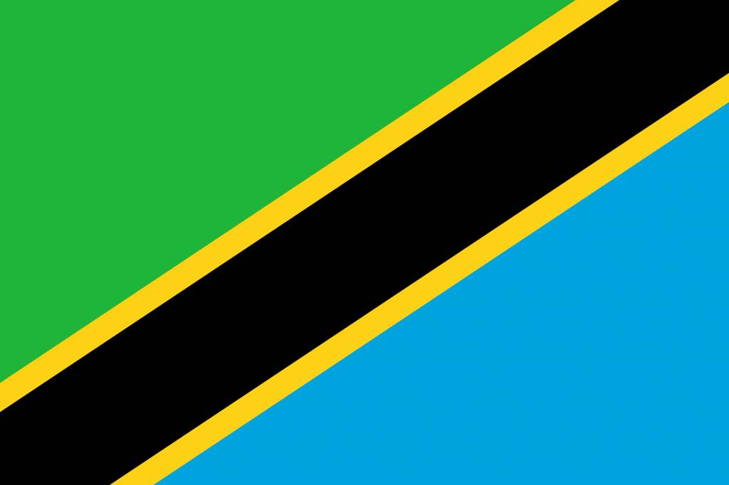 tanzania flag coloring country flags