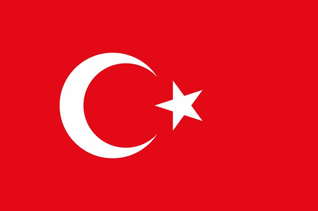 Turkey flag coloring - country flags