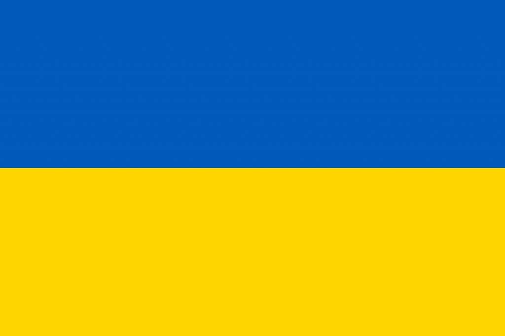 Ukraine flag coloring country