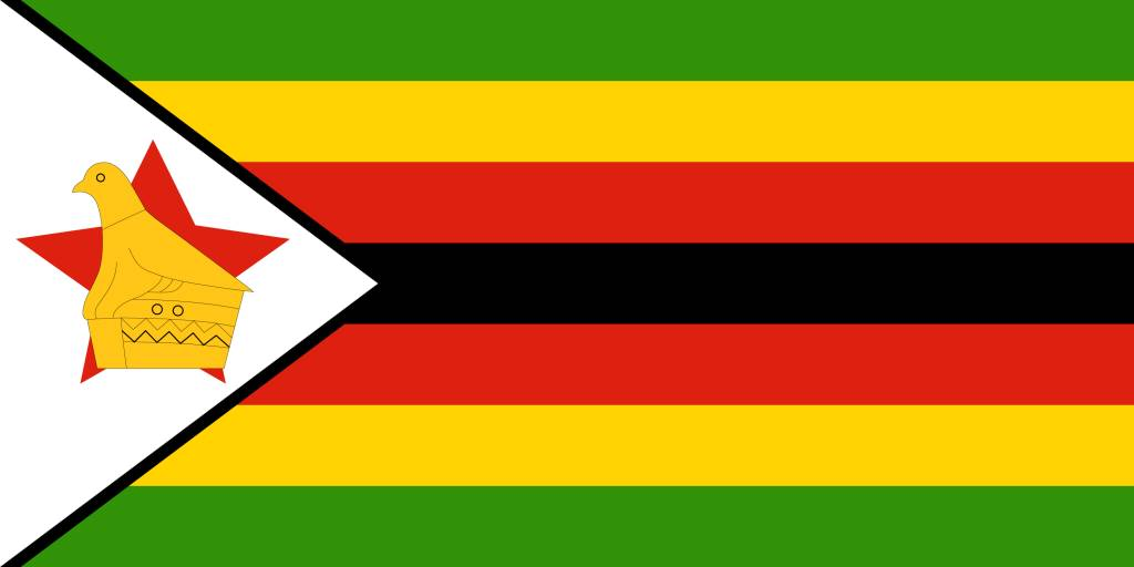 zimbabwe flag coloring country flags