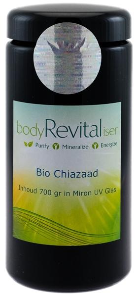 bodyRevitaliser Bio-Chiazaad in een Miron Ultraviolet glazen pot