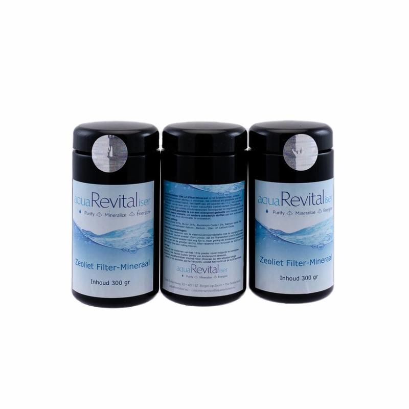 aquaRevitaliser aquaRevitaliser Zeoliet Filter-Mineraal 3x 300 gram