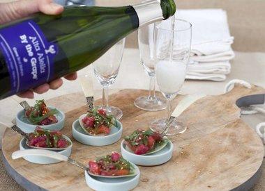 Biologische mousserende wijn