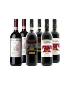 Klassieke biologische Italiaanse wijnen - 6 flessen