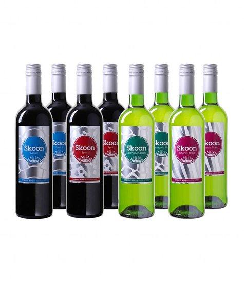 Skone biologische wijnen - Wijnpakket 8 flessen