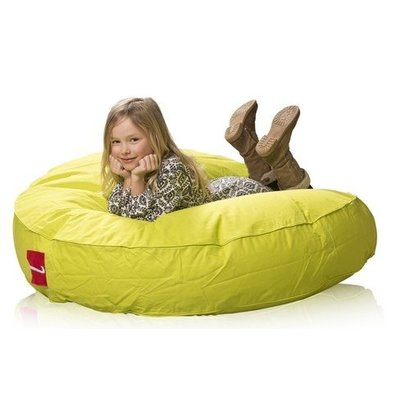 L&C beanbags L&C Donna Junior Ø 115cm lime groen