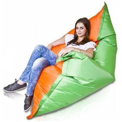 Bomba Colori zitzak groen/oranje 135x170cm
