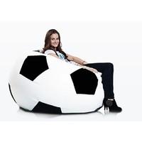 Bomba Voetbal zitzak leatherlook Ø 120cm wit/zwart