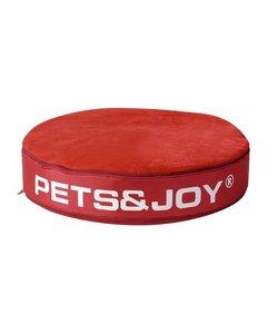 Kattenkussen Pets&Joy kussen Ø60cm rood