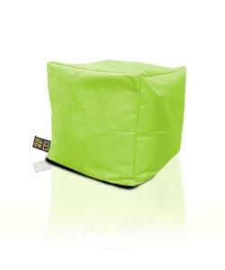 Yellow B poef groen