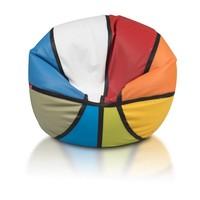 Bomba Basketbal MIX Colour zitzak leatherlook Ø 100cm