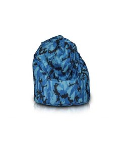 Bomba Relax zitzak camouflage blauw