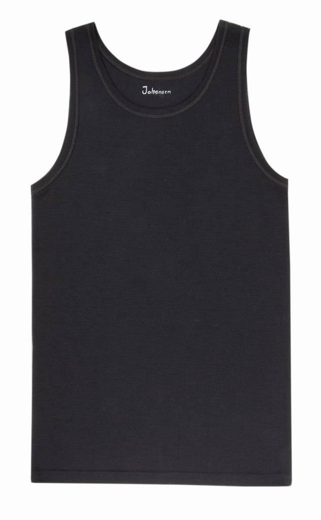 JOHA Joha Heren onderhemd wol zonder mouw zwart 78949-5