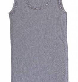 JOHA Joha Dames Onderhemd wol/zijde Grijs melange