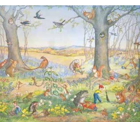 Poster Molly Brett, Woodland Gardeners