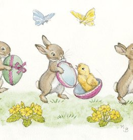 Molly Brett Three Rabbits with Easter PCE 122