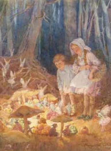 Poster Margaret Tarrant The Fairies' Market MWT 330