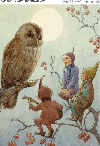 Margaret Tarrant, A Carol for Brown Owl PCE 023