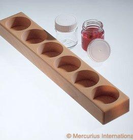 Verfpotblokhouder voor 6 glazen potjes