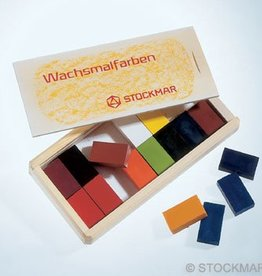 stockmar Stockmar wasblokjes in houten kist