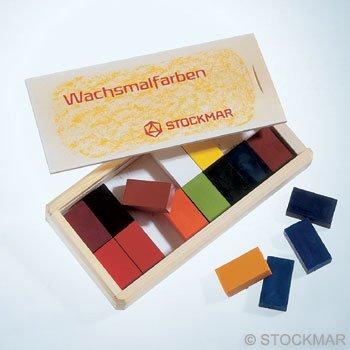 stockmar Stockmar wasblokjes in houten kistje
