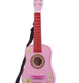 Gitaar roze met bloemen NCT 10348