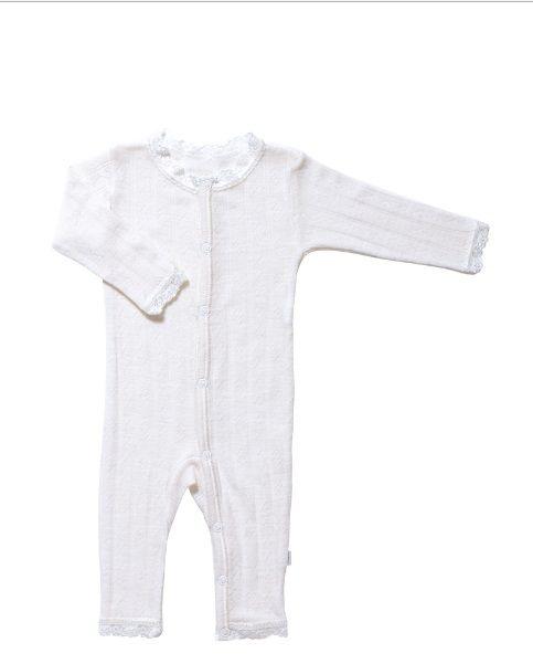 JOHA Joha Baby Jumpsuit wol/zijde met kant 35490-197
