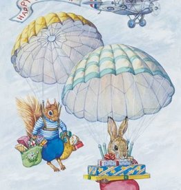 Audrey Tarrant, Rabitt and Squirrel parachuting with Presents PCE 161