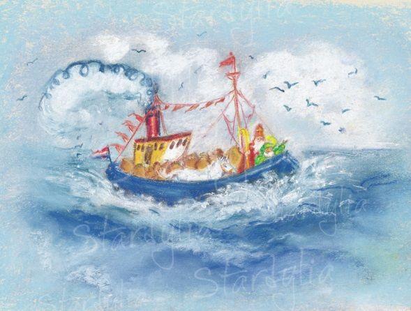 Marjan van Zeyl, Stoomboot met Sinterklaas